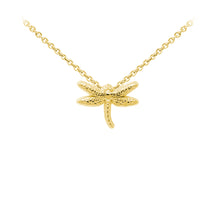 Load image into Gallery viewer, Wind & Fire Dragonfly Sterling Silver Dainty Necklace