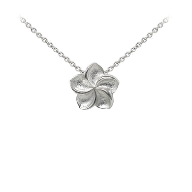 Wind & Fire Plumeria Sterling Silver Dainty Necklace