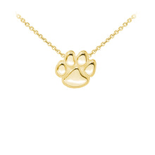 Load image into Gallery viewer, Wind & Fire Paw Print Sterling Silver Dainty Necklace