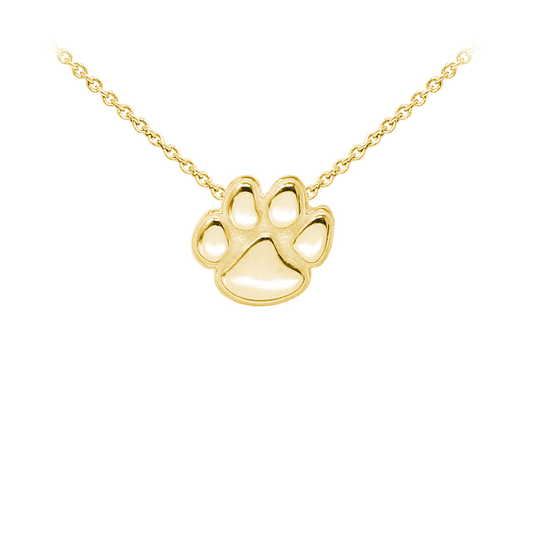 Wind & Fire Paw Print Sterling Silver Dainty Necklace
