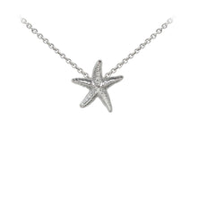 Load image into Gallery viewer, Wind & Fire Starfish Sterling Silver Dainty Necklace
