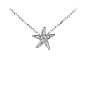 Wind & Fire Starfish Sterling Silver Dainty Necklace