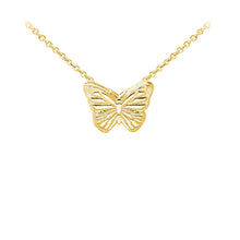 Load image into Gallery viewer, Wind & Fire Butterfly Sterling Silver Dainty Necklace