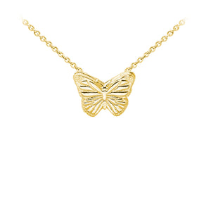 Wind & Fire Butterfly Sterling Silver Dainty Necklace