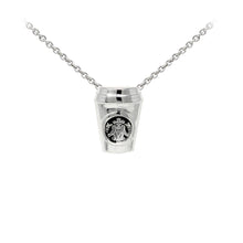 Load image into Gallery viewer, Wind & Fire Coffee Cup Sterling Silver Dainty Necklace