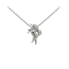 Load image into Gallery viewer, Wind & Fire Unicorn Sterling Silver Dainty Necklace