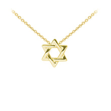 Load image into Gallery viewer, Wind & Fire Star of David Sterling Silver Dainty Necklace