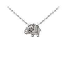 Load image into Gallery viewer, Wind & Fire Elephant Sterling Silver Dainty Necklace