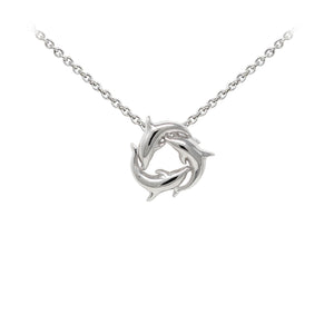 Wind & Fire Dolphins Sterling Silver Dainty Necklace