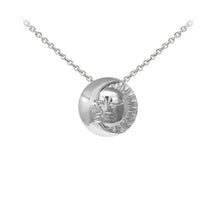 Load image into Gallery viewer, Wind & Fire Celestial Moon & Sun Sterling Silver Dainty Necklace