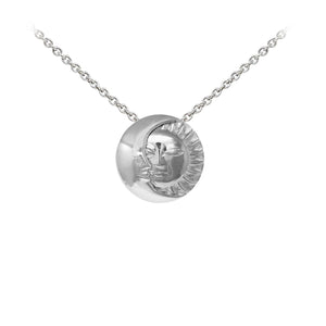 Wind & Fire Celestial Moon & Sun Sterling Silver Dainty Necklace