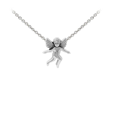 Wind & Fire Cherub Sterling Silver Dainty Necklace