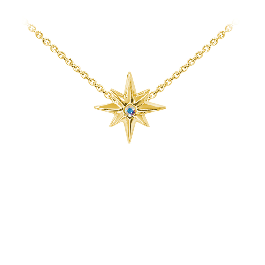 Wind & Fire North Star Sterling Silver Dainty Necklace