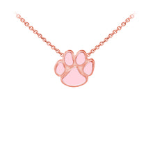 Load image into Gallery viewer, Wind & Fire Enameled Paw Print Sterling Silver Dainty Necklace