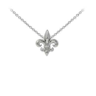 Wind & Fire Fleur-de-Lis Sterling Silver Dainty Necklace