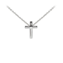 Load image into Gallery viewer, Wind & Fire Cross Sterling Silver Dainty Necklace
