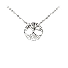 Load image into Gallery viewer, Wind & Fire Tree of Life Sterling Silver Dainty Necklace