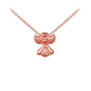 Wind & Fire Filigree Angel Sterling Silver Dainty Necklace