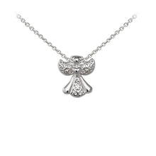 Load image into Gallery viewer, Wind & Fire Filigree Angel Sterling Silver Dainty Necklace