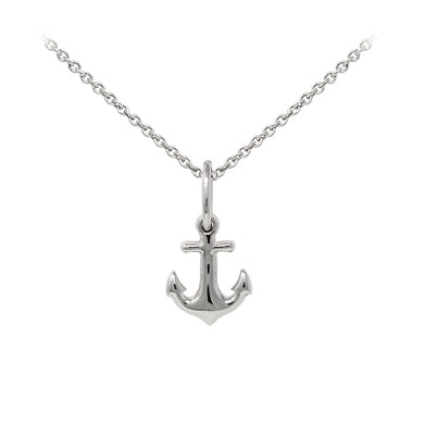 Wind & Fire Anchor Sterling Silver Dainty Necklace