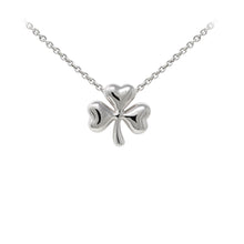 Load image into Gallery viewer, Wind & Fire Shamrock Sterling Silver Dainty Necklace