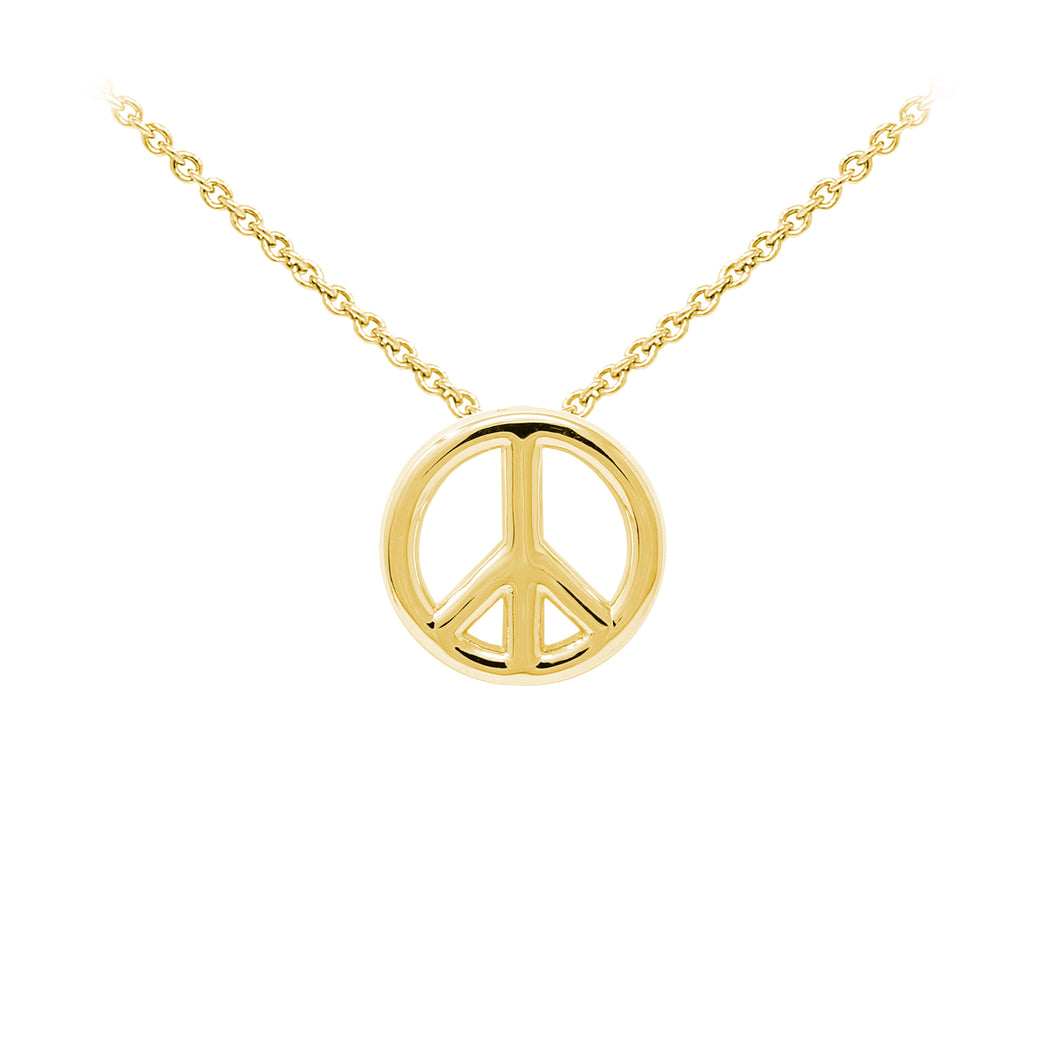 Wind & Fire Peace Sign Sterling Silver Dainty Necklace