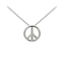 Load image into Gallery viewer, Wind & Fire Peace Sign Sterling Silver Dainty Necklace