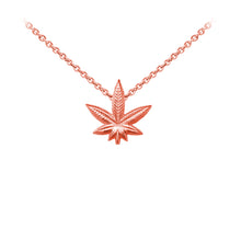 Load image into Gallery viewer, Wind & Fire Hemp Leaf Sterling Silver Dainty Necklace