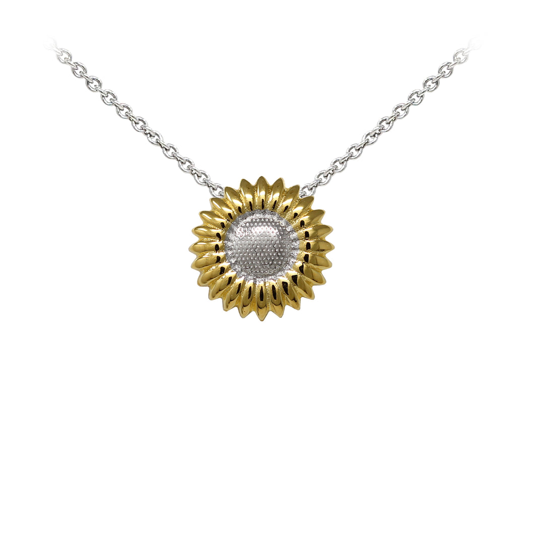 Wind & Fire Sunflower Sterling Silver Dainty Necklace