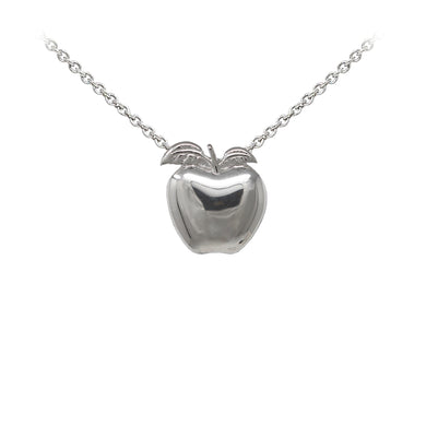 Wind & Fire Teacher's Apple Sterling Silver Dainty Necklace