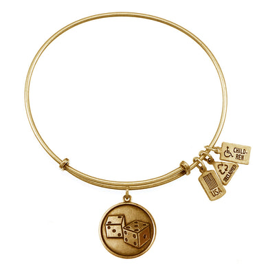 Wind & Fire Dice Charm Bangle