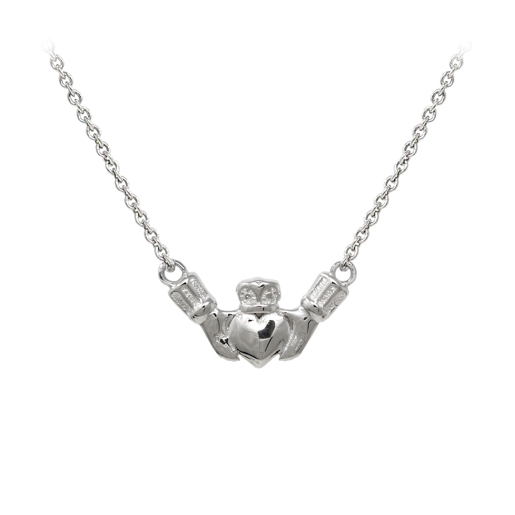 Wind & Fire Claddagh Sterling Silver Dainty Necklace