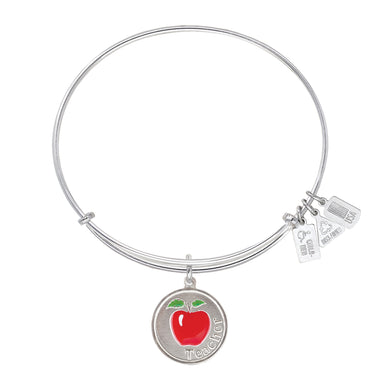 Wind & Fire Teacher w/Red Enameled Apple Charm Bangle