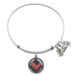 Wind & Fire Made in the USA Enameled Charm Bangle
