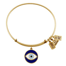 Load image into Gallery viewer, Wind & Fire Evil Eye Enameled Charm Bangle