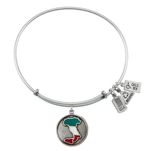 Wind & Fire Italy Boot Enameled Charm Bangle
