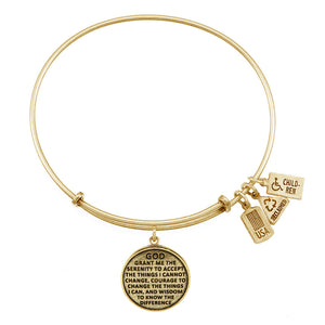 Wind & Fire Serenity Prayer Charm Bangle