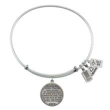 Load image into Gallery viewer, Wind & Fire Guardian Angel Prayer Charm Bangle