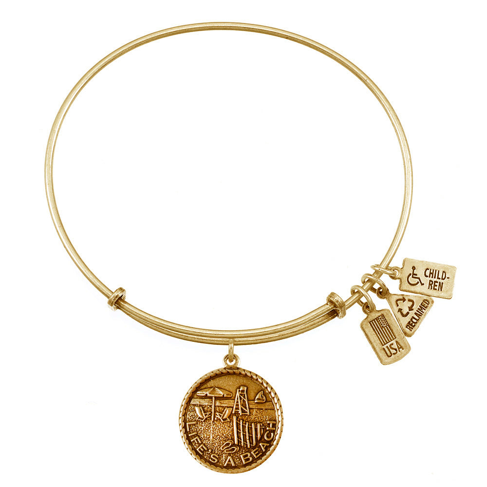 Wind & Fire Life's a Beach Charm Bangle