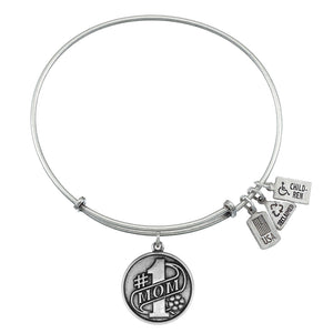 Wind & Fire Number 1 Mom Charm Bangle