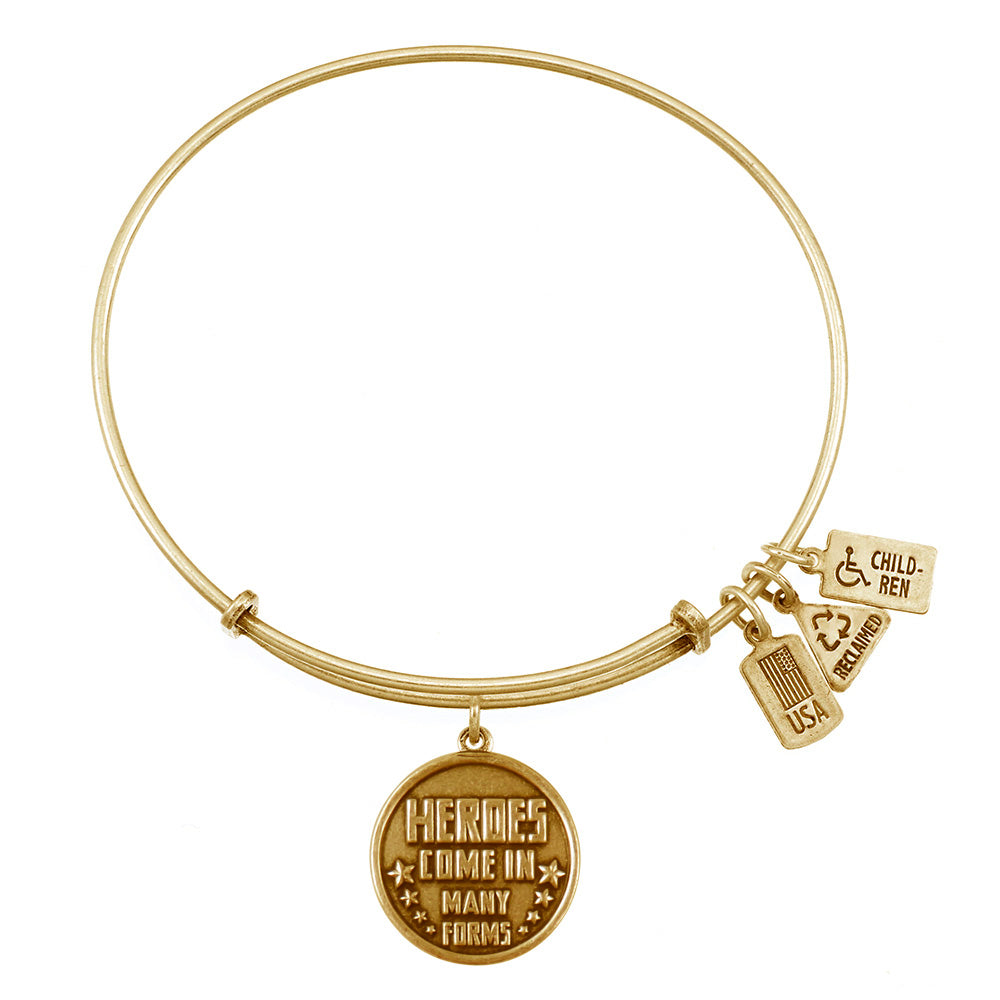 Wind & Fire Heroes Come in Many Forms Charm Bangle