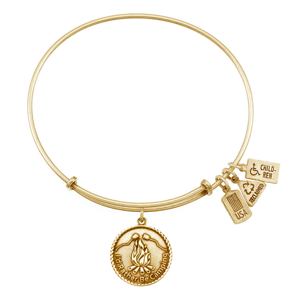 Wind & Fire I'd Rather Be Camping Charm Bangle