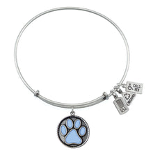 Load image into Gallery viewer, Wind & Fire Light Blue Paw Print Charm Bangle