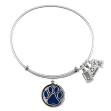 Load image into Gallery viewer, Wind & Fire Dark Blue Paw Print Charm Bangle