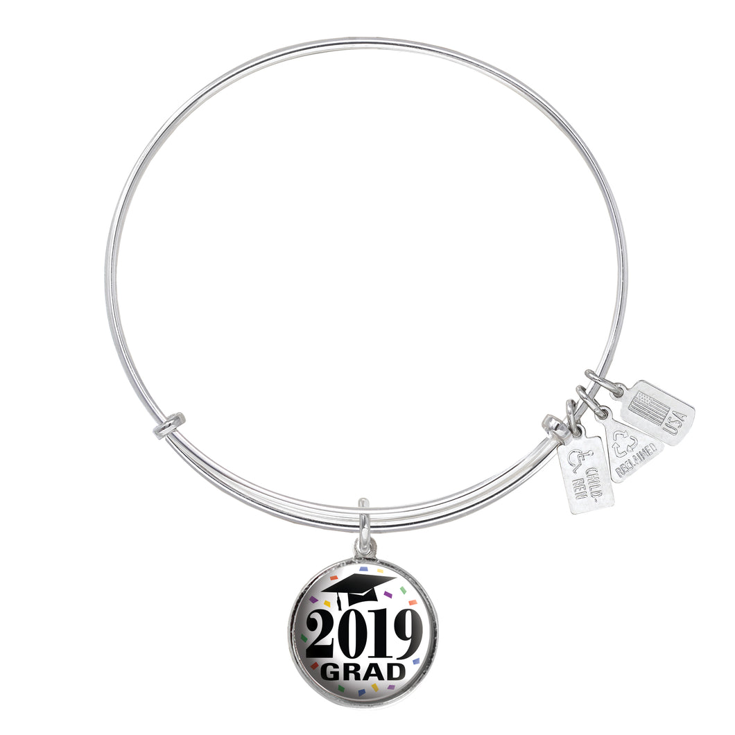 Wind & Fire Graduation Cap Class of 2019 Charm Bangle