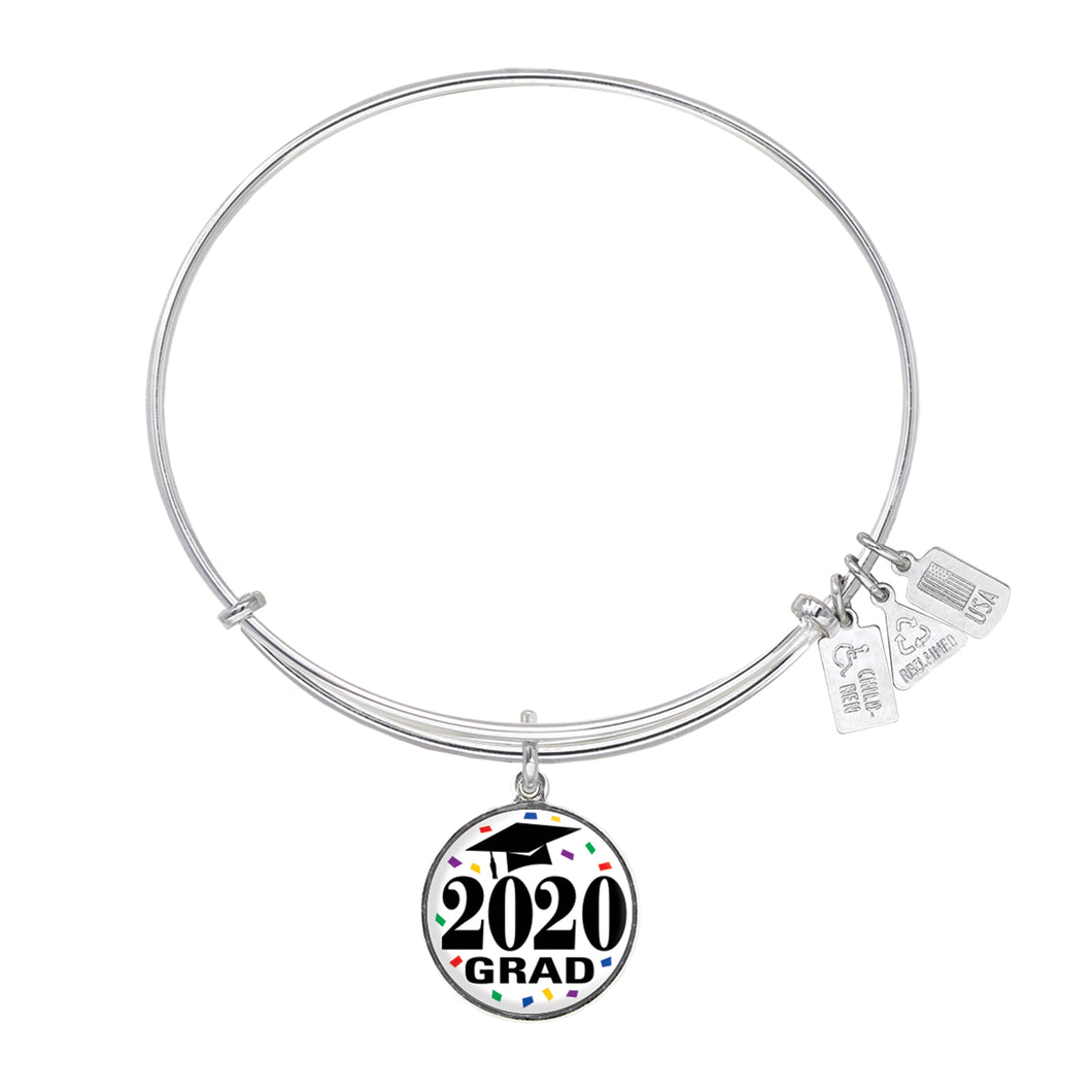 Wind & Fire Graduation Cap Class of 2020 Charm Bangle