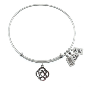 Wind & Fire Celtic Knot Charm Bangle