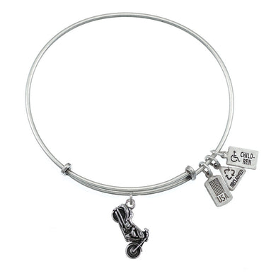 Wind & Fire Motorcycle Charm Bangle
