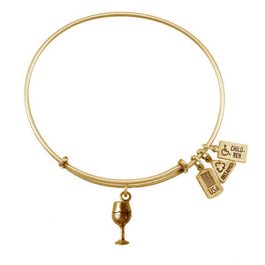 Wind & Fire Wine Glass Charm Bangle