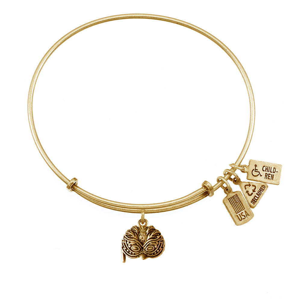 Wind & Fire Mardi Gras Mask Charm Bangle